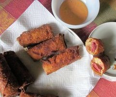 Reuben Egg Rolls with 1000 Island dipping sauce