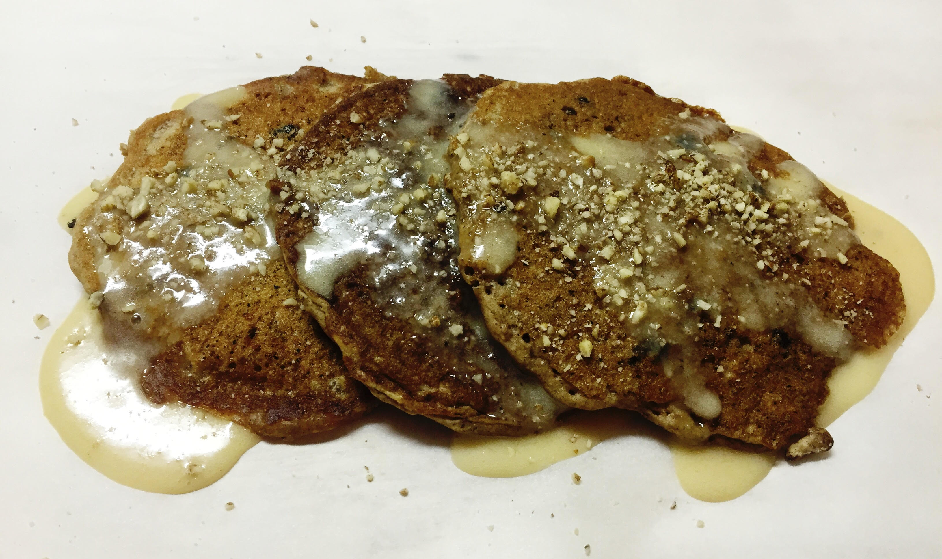 Carrot Pancakes with Cream Cheese Maple Syrup