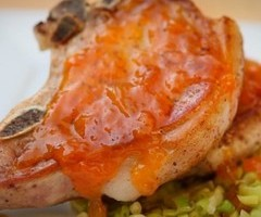 Apricot Glazed Pork Chop