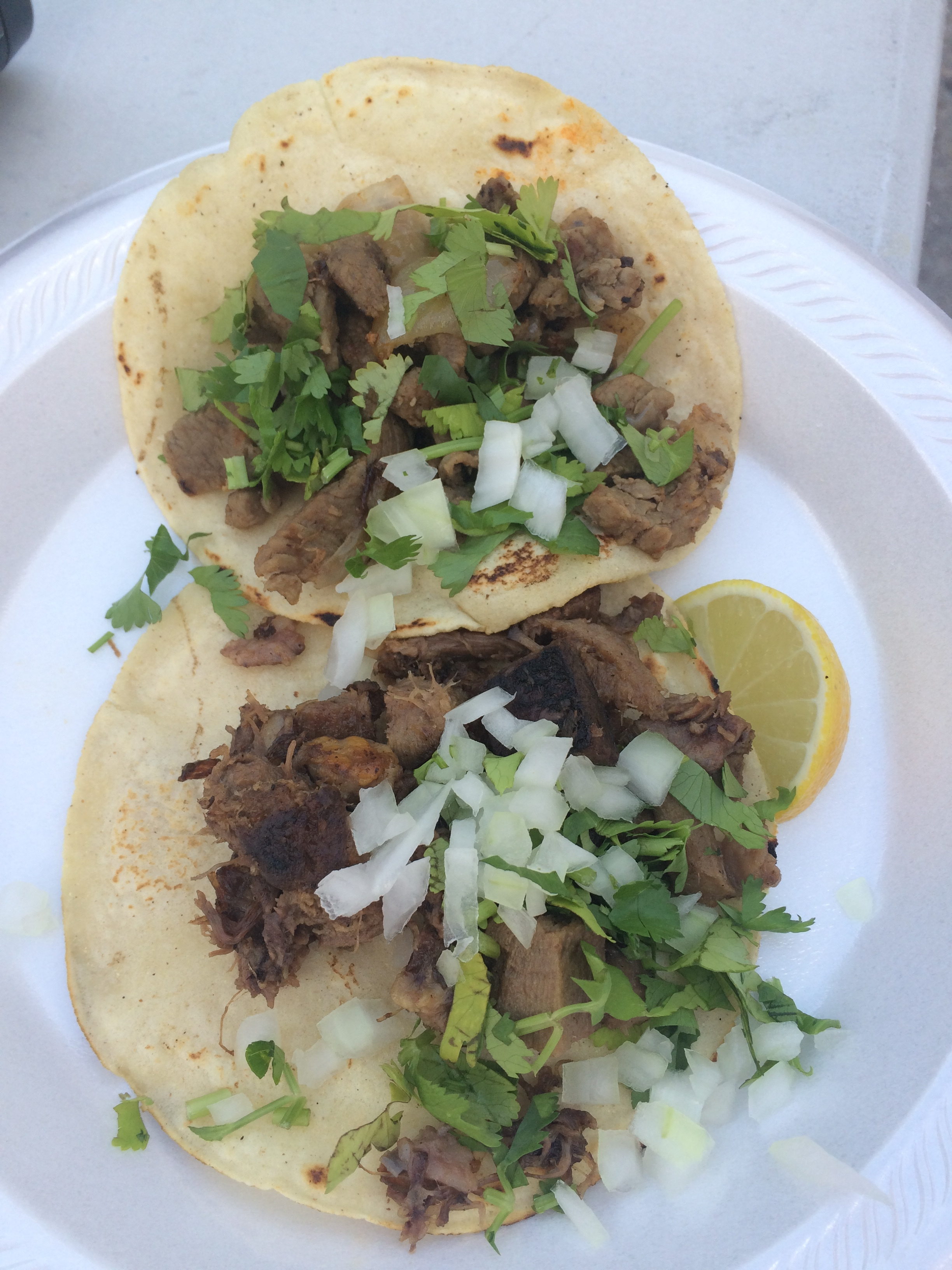 Beef Tongue & Head Tacos