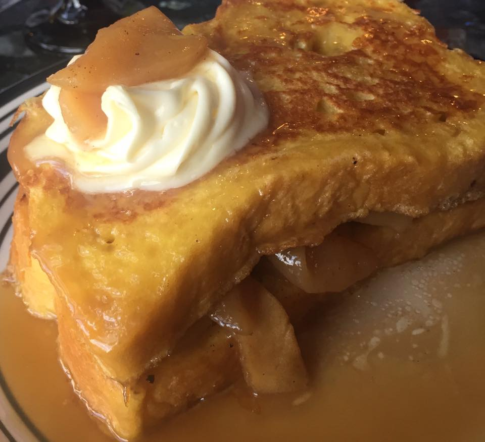 Fireball Whiskey infused Apple French Toast