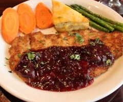 Pork Schnitzel with Cherries