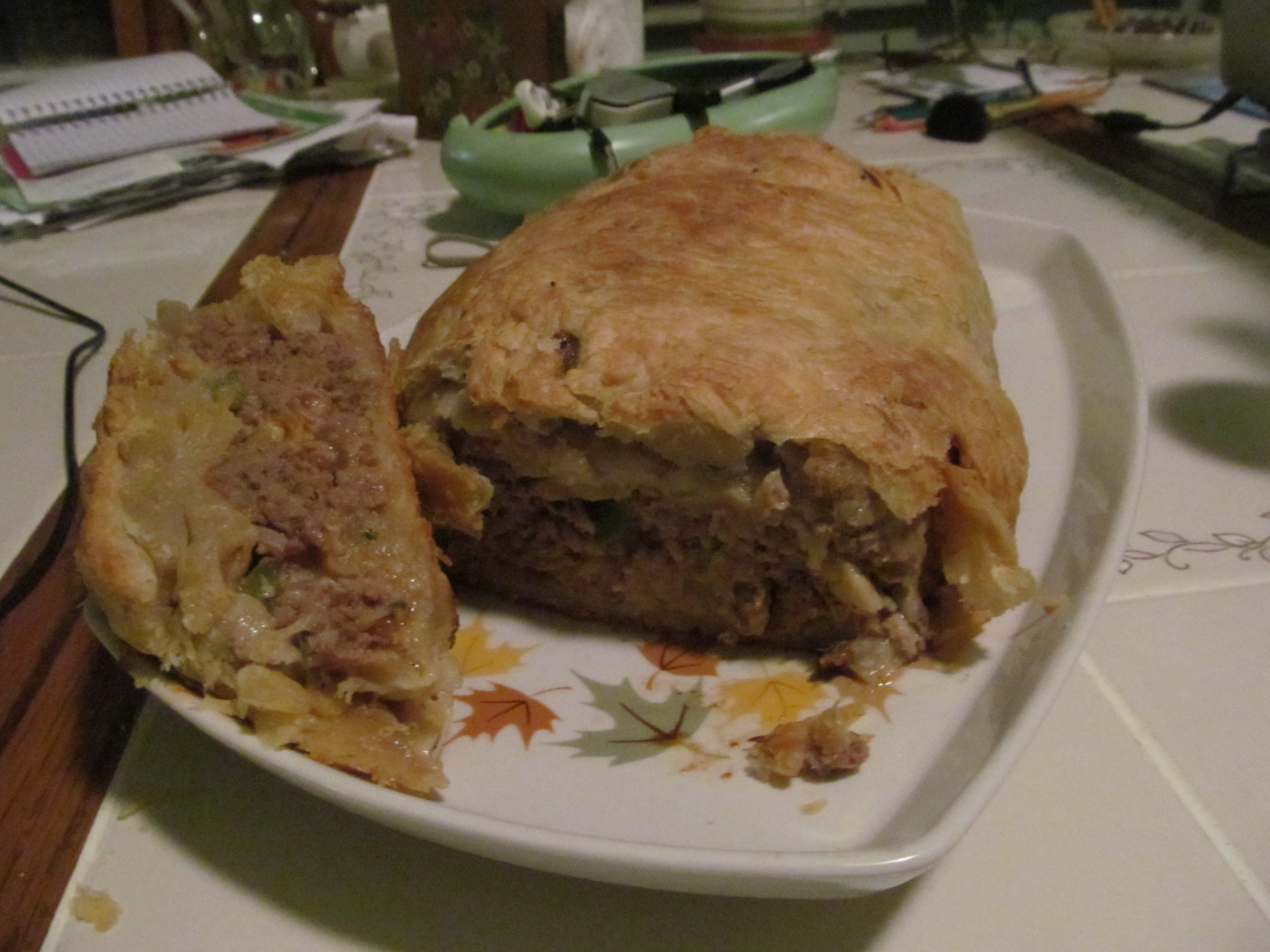 puff pastry wrapped meatloaf Photo