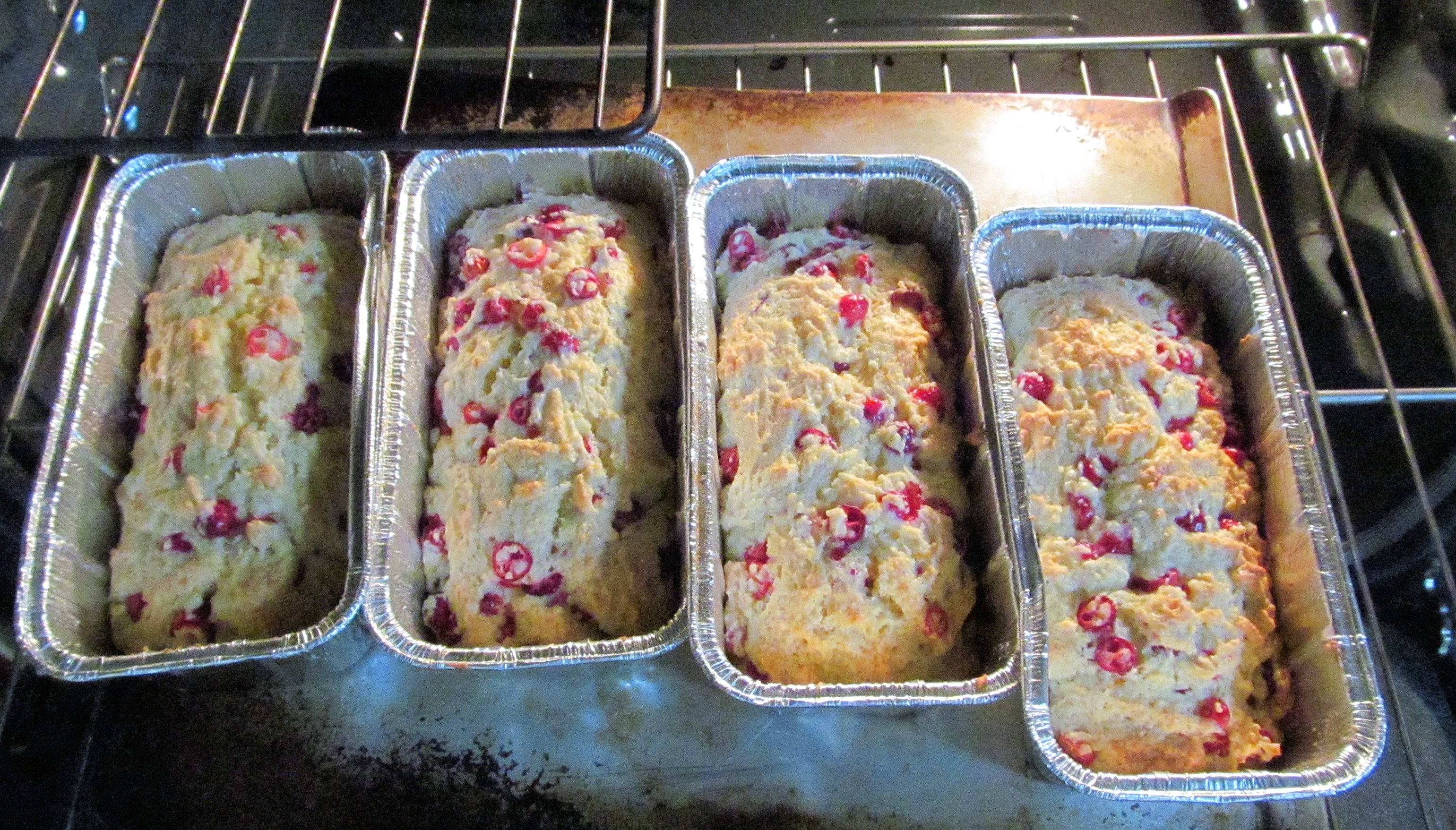 Fresh Cranberry Orange Loaves