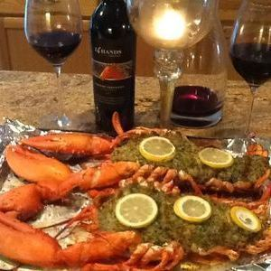 Stuffed Lobsters with Fresh Crabmeat  and Italian Seasonings