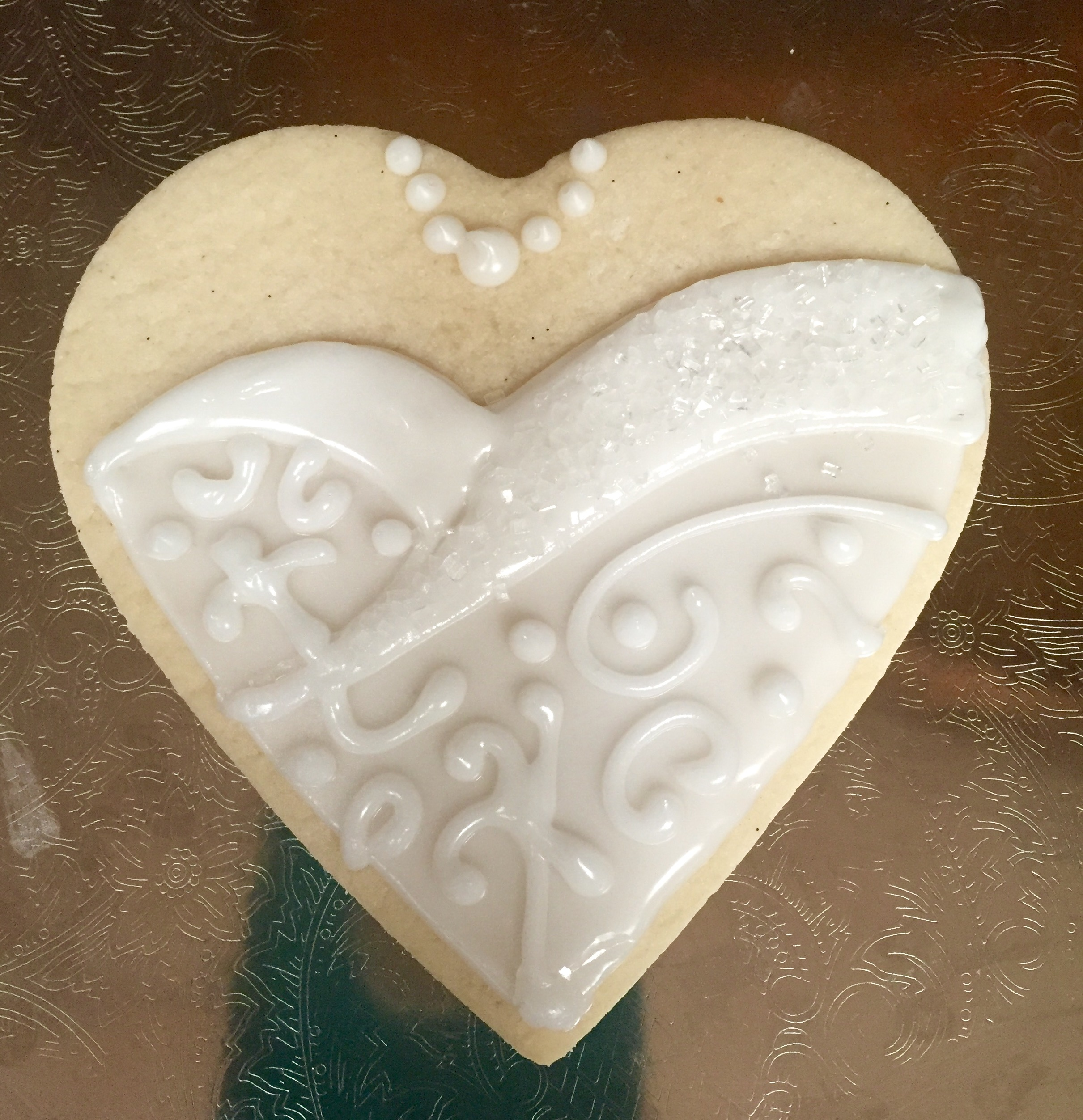 Wedding Dress sugar cookie