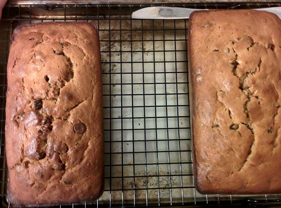 Chocolate chip peanut butter banana bread