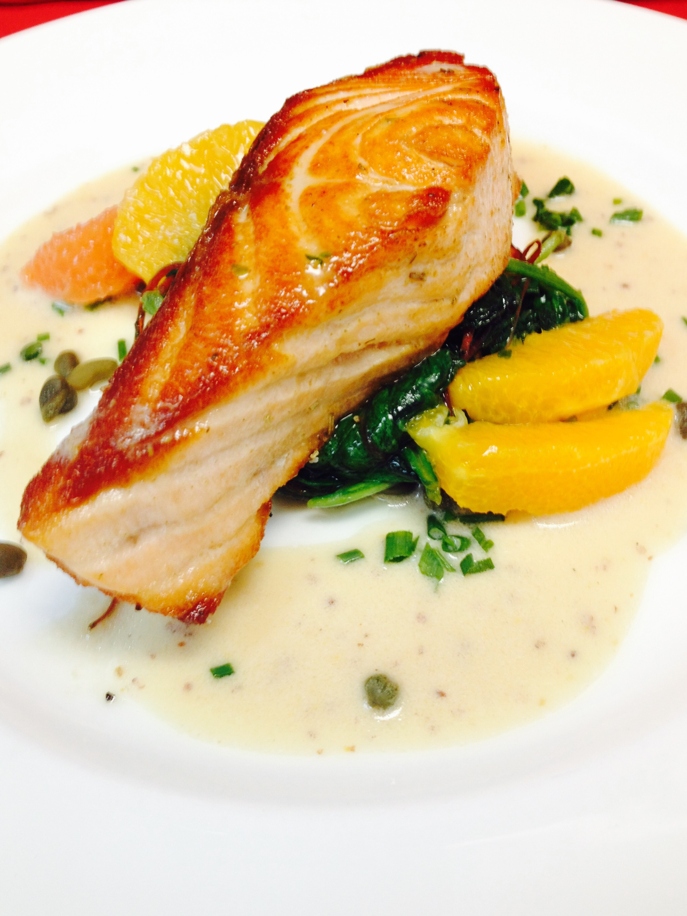 Atlantic Salmon w/Citrus Segments