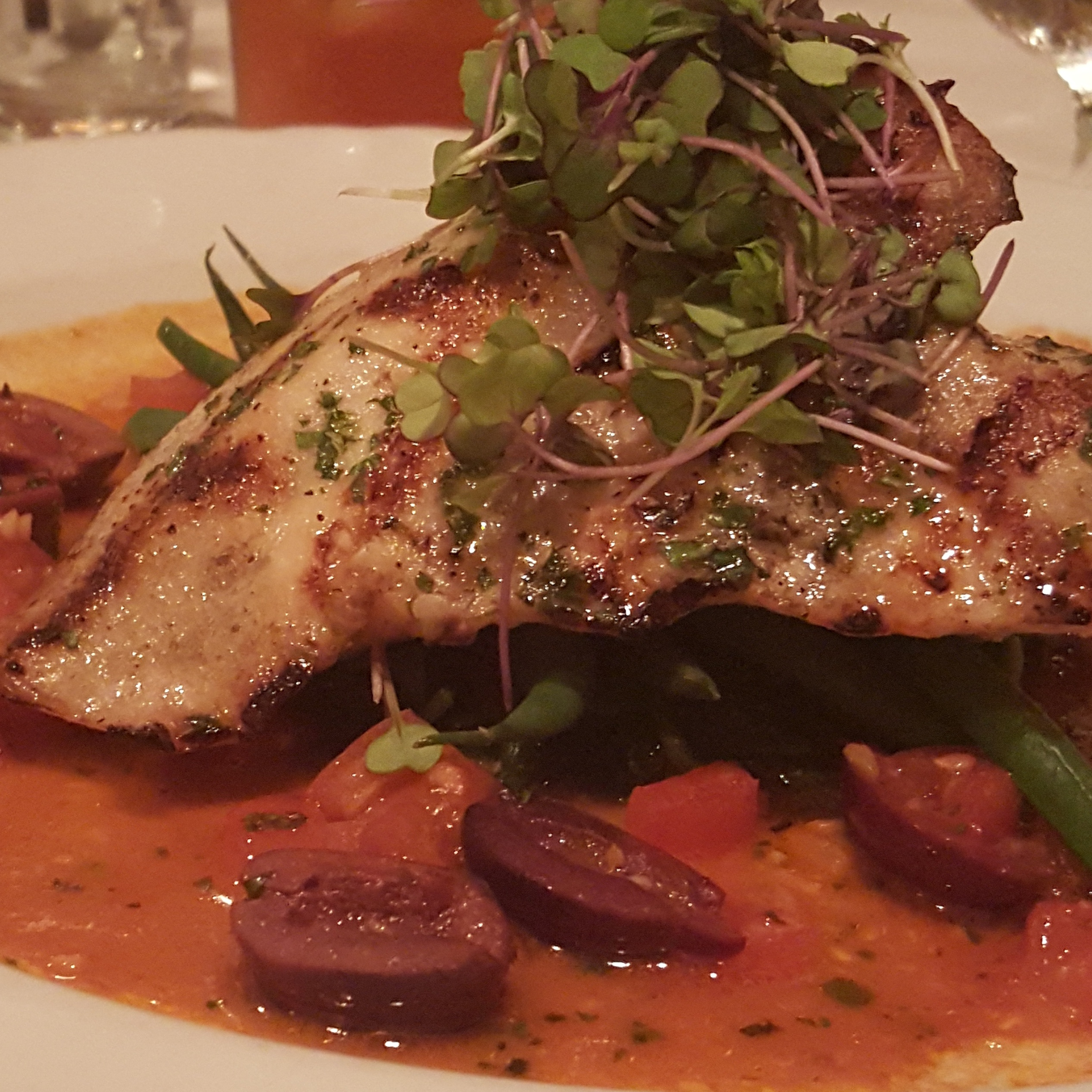 The Tides..Grilled Swordfish Provencal