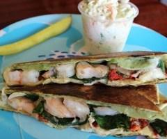 Tuscan Shrimp Wrap